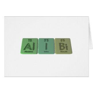 Alibi-Al-I-Bi-Aluminium-Iodine-Bismuth Greeting Cards