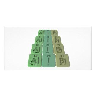 Alibi-Al-I-Bi-Aluminium-Iodine-Bismuth Personalized Photo Card