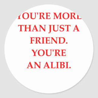 ALIBI ROUND STICKER