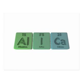 Alica as Aluminium Iodine Calcium Postcard