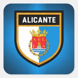 Alicante Flag Square Sticker