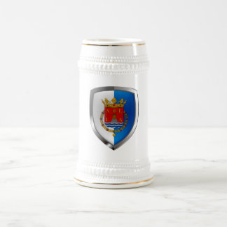 Alicante Metallic Emblem Beer Stein