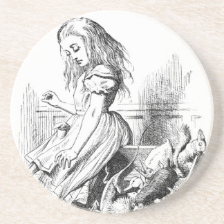 Alice and a Box of Animals Coaster