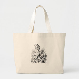 Alice and a Box of Animals Large Tote Bag