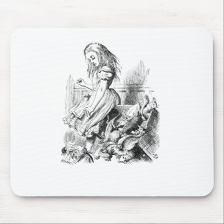 Alice and a Box of Animals Mouse Pad
