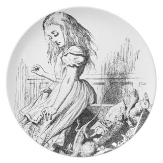 Alice and a Box of Animals Plate