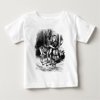 Alice and a Fawn Baby T-Shirt