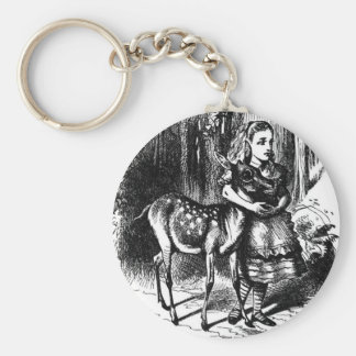 Alice and a Fawn Basic Round Button Key Ring