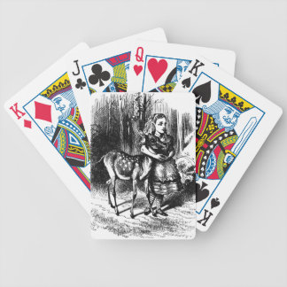 Alice and a Fawn Bicycle Playing Cards