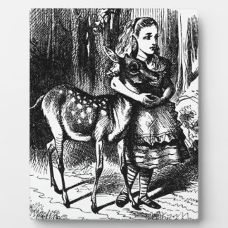 Alice and a Fawn Plaque