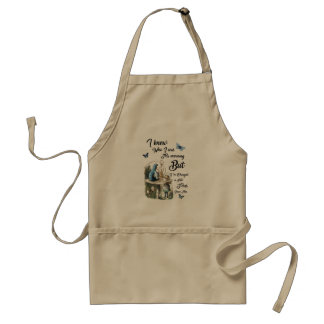 Alice and Cheshire Cat Quote Dictionary Art Standard Apron