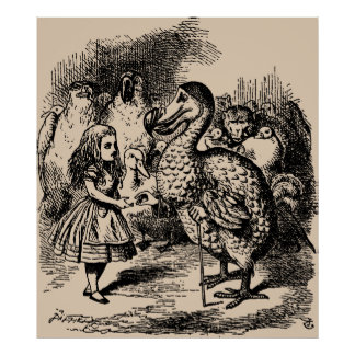 Alice and Dodo Birds Poster