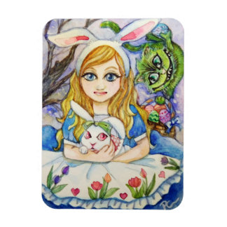 Alice and Easter Bunny Magnet