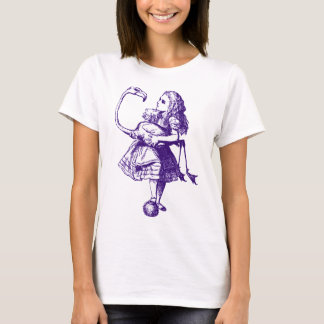 Alice and Flamingo Inked Purple T-Shirt