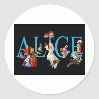 ALICE AND FRIENDS IN WONDERLAND CLASSIC ROUND STICKER