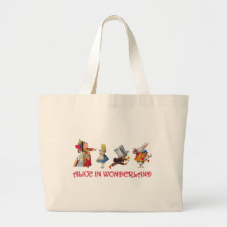 ALICE AND FRIENDS IN WONDERLAND LARGE TOTE BAG