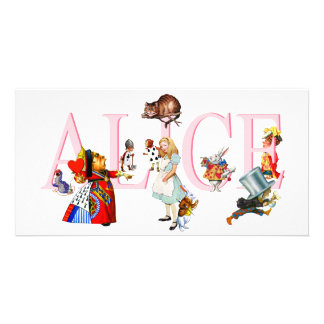ALICE AND FRIENDS PERSONALIZED PHOTO CARD