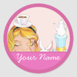 Alice and Friends Tea Party Stickers Kelly Schwark