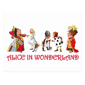 ALICE AND FRINEDS IN WONDERLAND POSTCARD