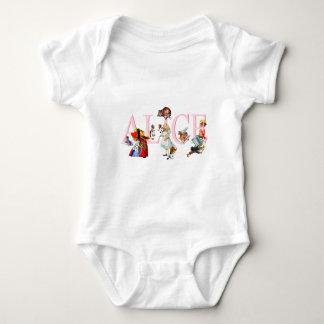 ALICE AND HER FRIENDS IN WONDERLAND BABY BODYSUIT