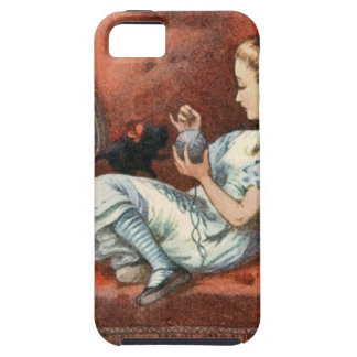 Alice and her Kitten iPhone 5 Cover