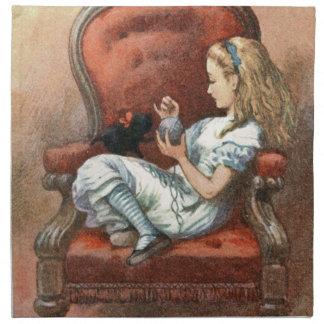 Alice and her Kitten Napkin