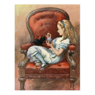 Alice and her Kitten Postcard