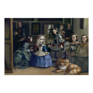 Alice and Las Meninas Art Print gothic wonderland