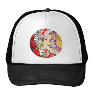 Alice and the Cardmen Painting the Queen's Roses Trucker Hat
