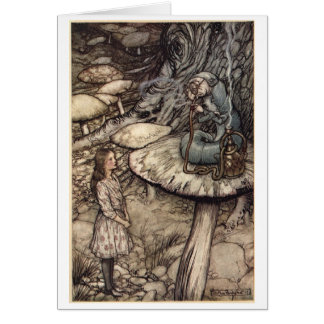 Alice and the Caterpillar (Blank Inside) Card