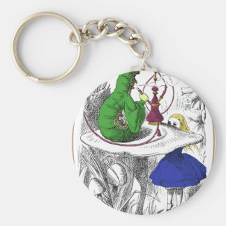 Alice and the Caterpillar Key Ring