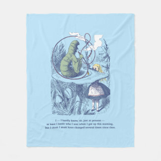 Alice and the Caterpillar Medium Fleece Blanket