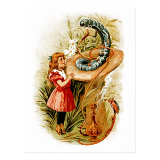 Alice and the Caterpillar Postcards