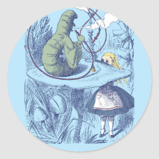 Alice and the Caterpillar Round Sticker