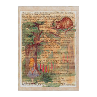 Alice and the Cheshire Cat Acrylic Print
