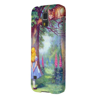 Alice and the Cheshire Cat Full Color Galaxy S5 Cover
