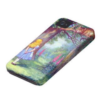 Alice and the Cheshire Cat Full Color iPhone 4 Covers