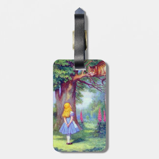 Alice and the Cheshire Cat Full Color Luggage Tag