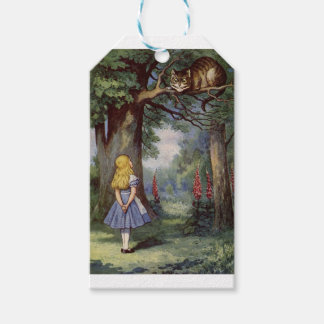Alice and the Cheshire Cat Gift Tags