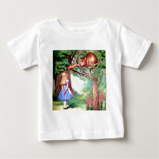 Alice and the Cheshire Cat in Wonderland Baby T-Shirt