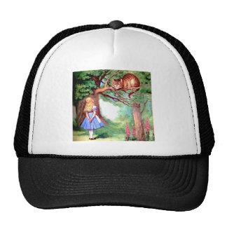 Alice and the Cheshire Cat in Wonderland Cap