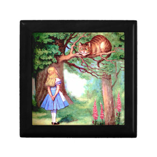 Alice and The Cheshire Cat in Wonderland Jewelry Boxes