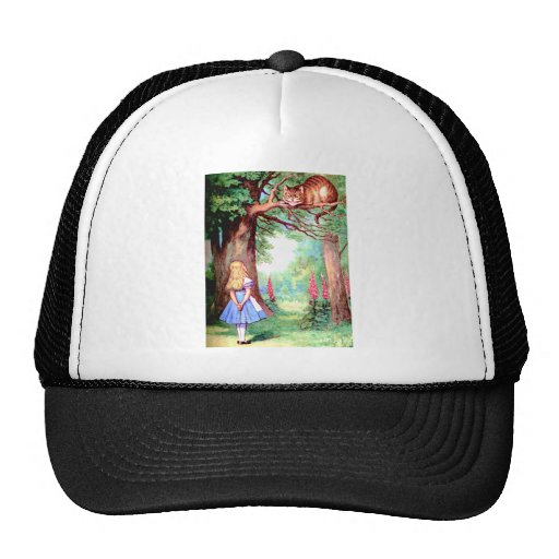 Alice and The Cheshire Cat in Wonderland Trucker Hats