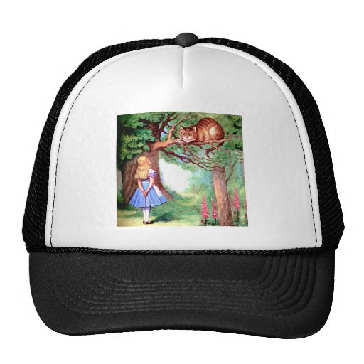 Alice and the Cheshire Cat in Wonderland Mesh Hats