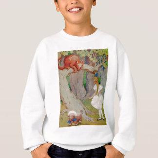 Alice and the Cheshire Cat in Wonderland Sweatshirt