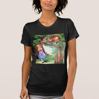 Alice and the Cheshire Cat in Wonderland Tee Shirt