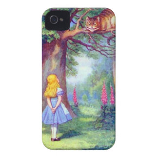 Alice and the Cheshire Cat iPhone 4 Case-Mate Case