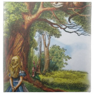 Alice and the Cheshire Cat Napkin