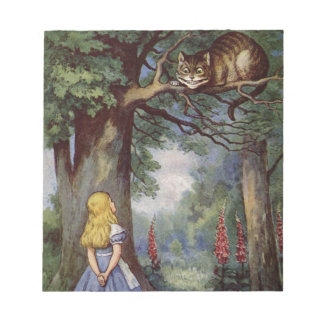 Alice and the Cheshire Cat Notepad
