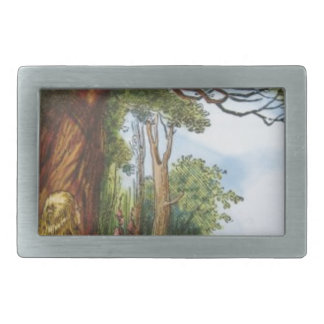 Alice and the Cheshire Cat Rectangular Belt Buckles